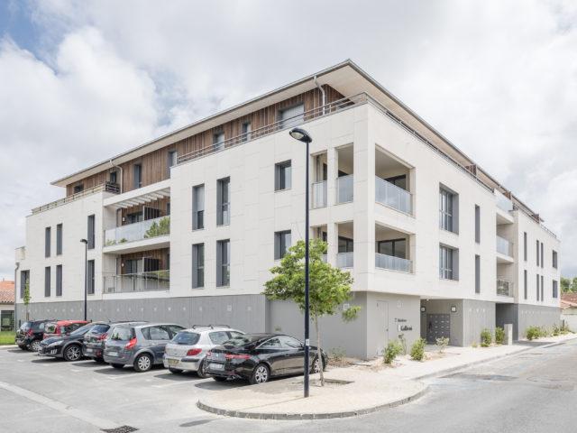 architecte la teste logements collectifs gallieni vue angle résidence