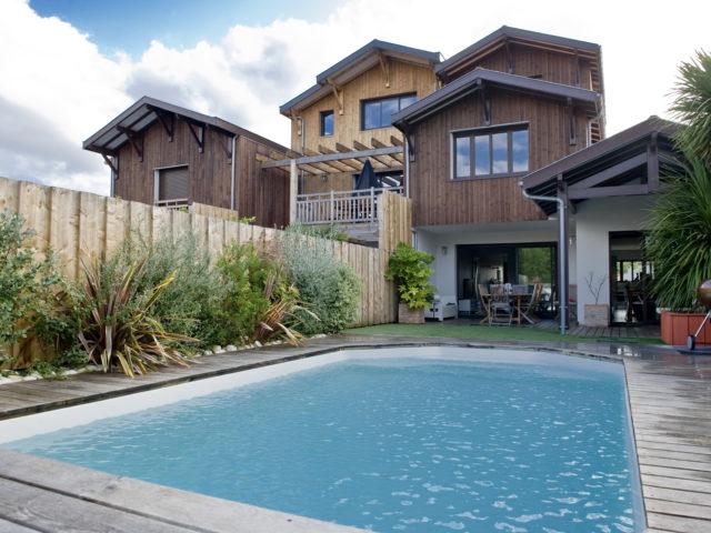 architecte la teste de buch maisons canelot vue piscine