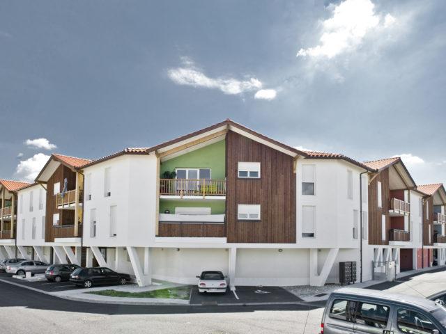 architecte gujan dubrous logements collectifs birebois vue ensemble