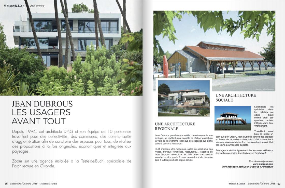 Maison et Jardin Agence Dubrous Bassin Arcachon